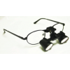 Feather Sight Loupes & Feather Light LED Combo:  #FT1 Standard Frame - Flip-Up (3.0x Magnification)